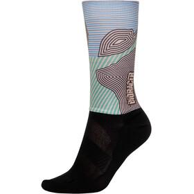 Bioracer Summer Socks, kontur green pink